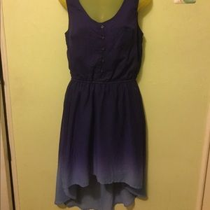 Women's ombré navy blue to sky blue dress
